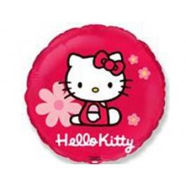 Круг Hello Kitty в цветочках