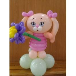 Зайка Ляля с цветком